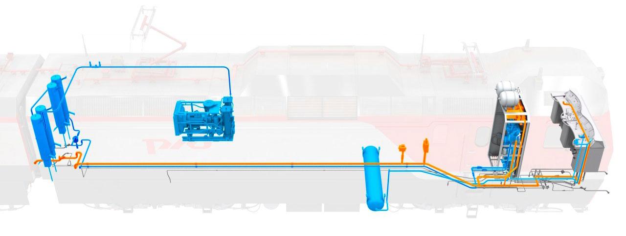 brake 07 Электронный учебный комплекс «Устройство и эксплуатация тормозного оборудования электровозов нового поколения 2ЭС10, 2ЭС7»