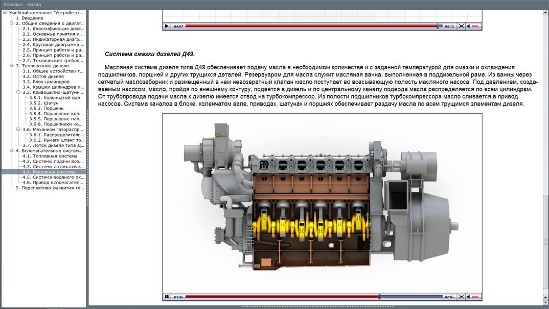 diesel 03 Мультимедийный учебный комплекс «Устройство и принцип работы тепловозных дизелей»