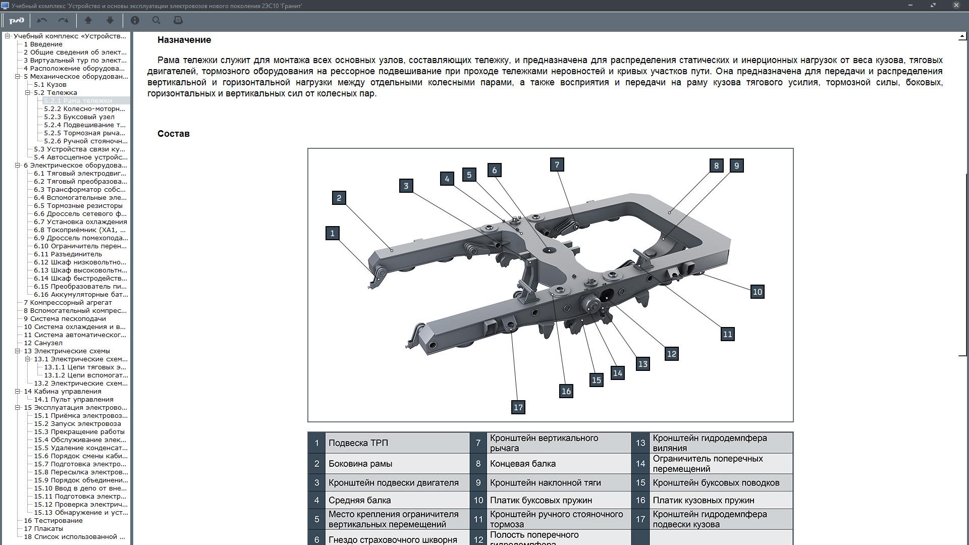 granit16 05 Электронный учебный комплекс «Устройство и основы эксплуатации электровозов нового поколения 2ЭС10 «Гранит»