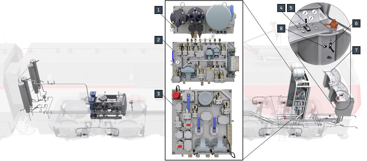 sinara brake 05 Электронный учебный комплекс «Устройство и эксплуатация тормозного оборудования электровозов нового поколения 2ЭС6 «Синара»