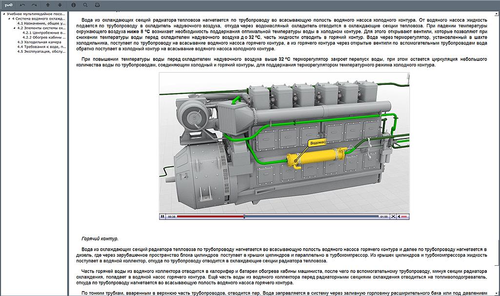 systems 02 Мультимедийный учебный комплекс «Топливная, масляная, водяная системы тепловозов серии ТЭМ»