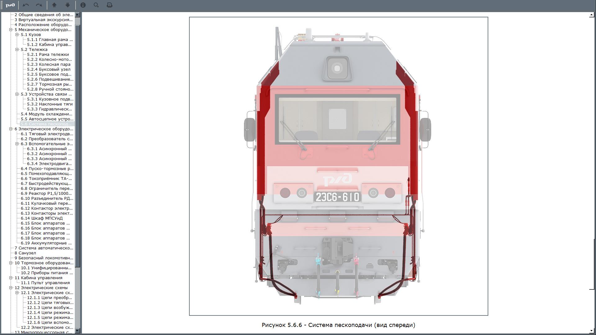 2es6 manual 11 Электронный учебный комплекс «Устройство и техническое обслуживание электровоза 2ЭС6 «Синара»