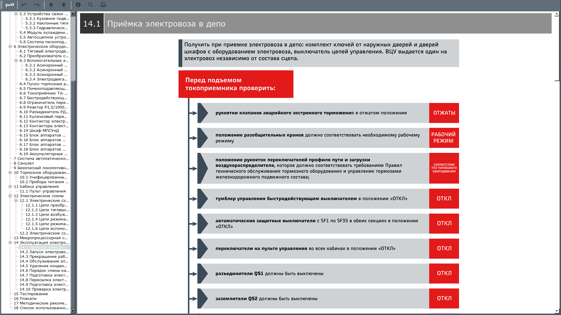 2es6 manual 12 Электронный учебный комплекс «Устройство и техническое обслуживание электровоза 2ЭС6 «Синара»