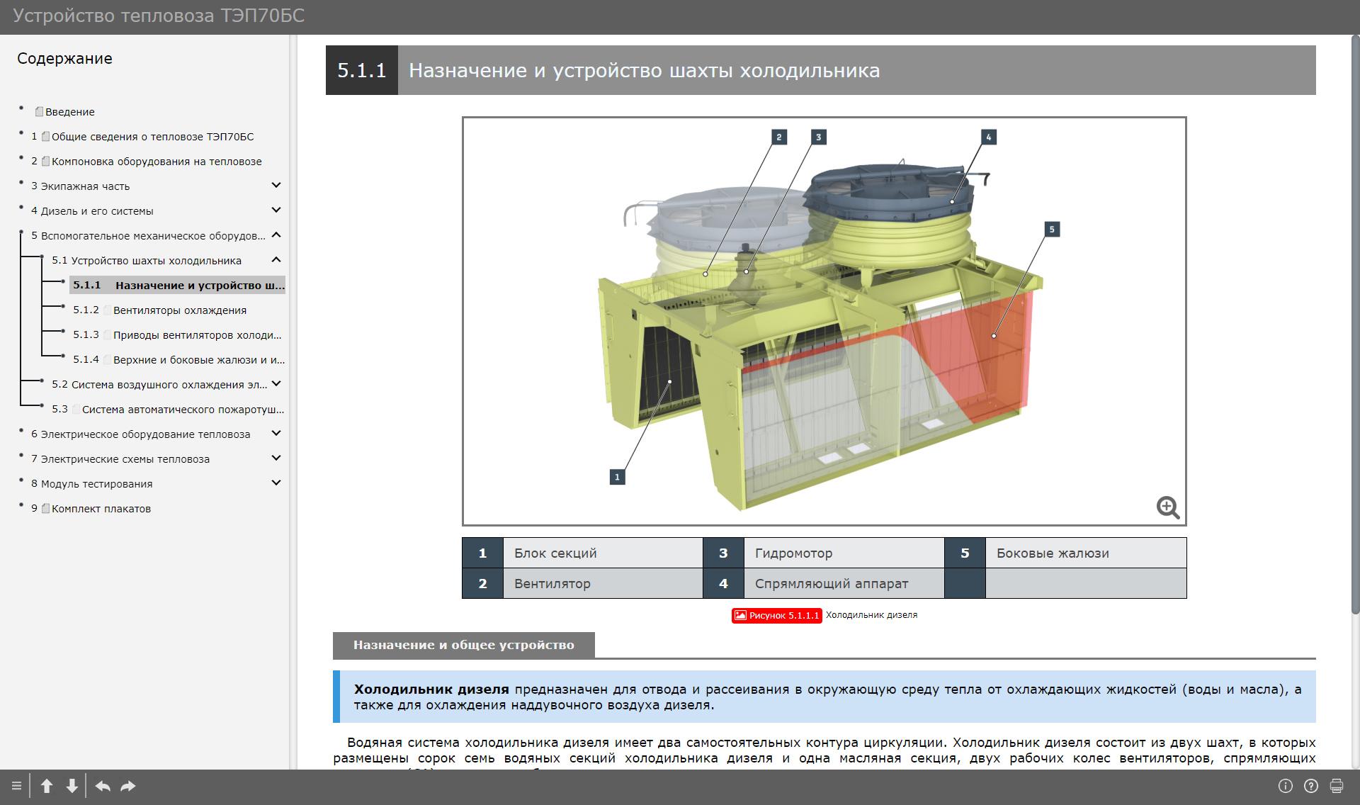 tep70bs 011 Электронный учебный комплекс «Устройство тепловоза ТЭП70БС»