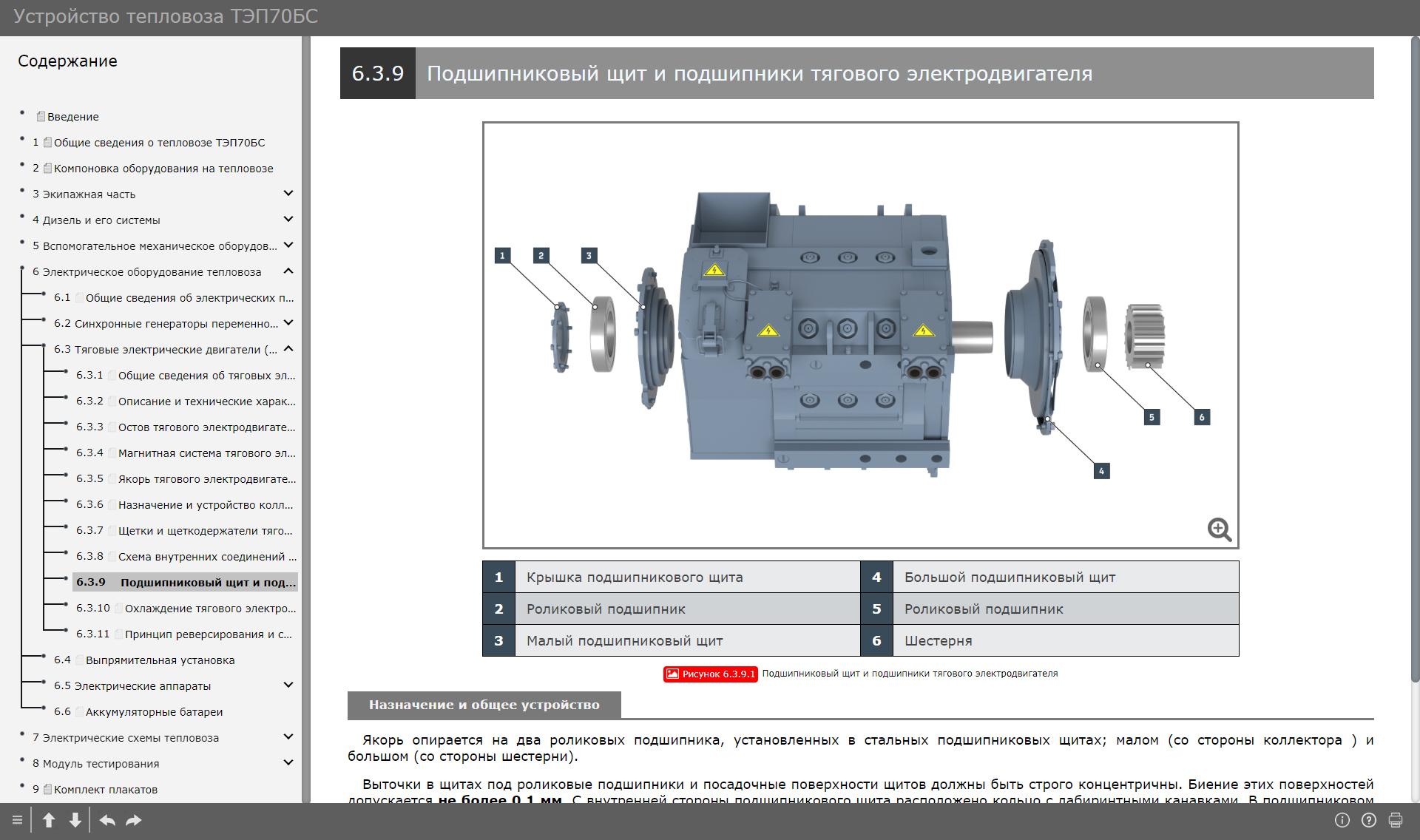 tep70bs 014 Электронный учебный комплекс «Устройство тепловоза ТЭП70БС»