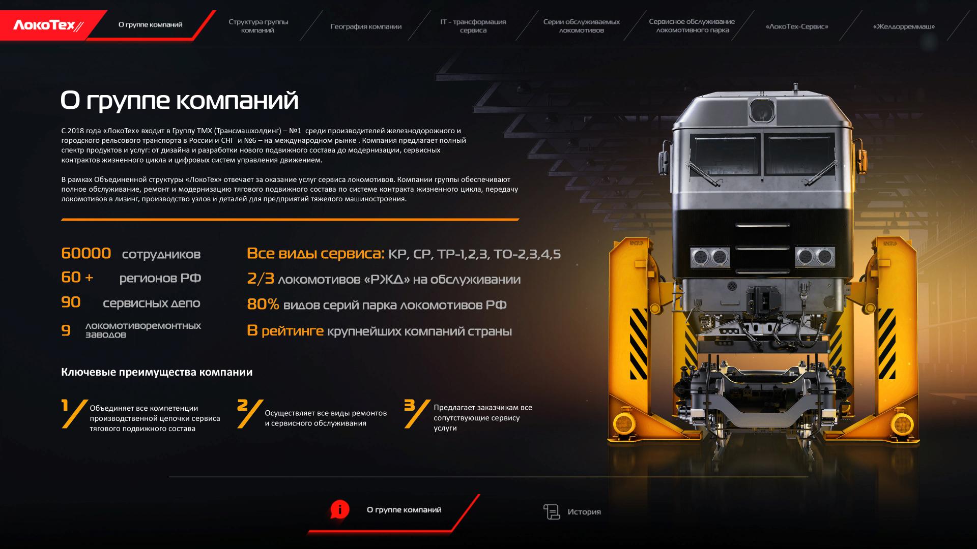 locotech 03 2 Интерактивная презентация для группы компаний «Локотех»