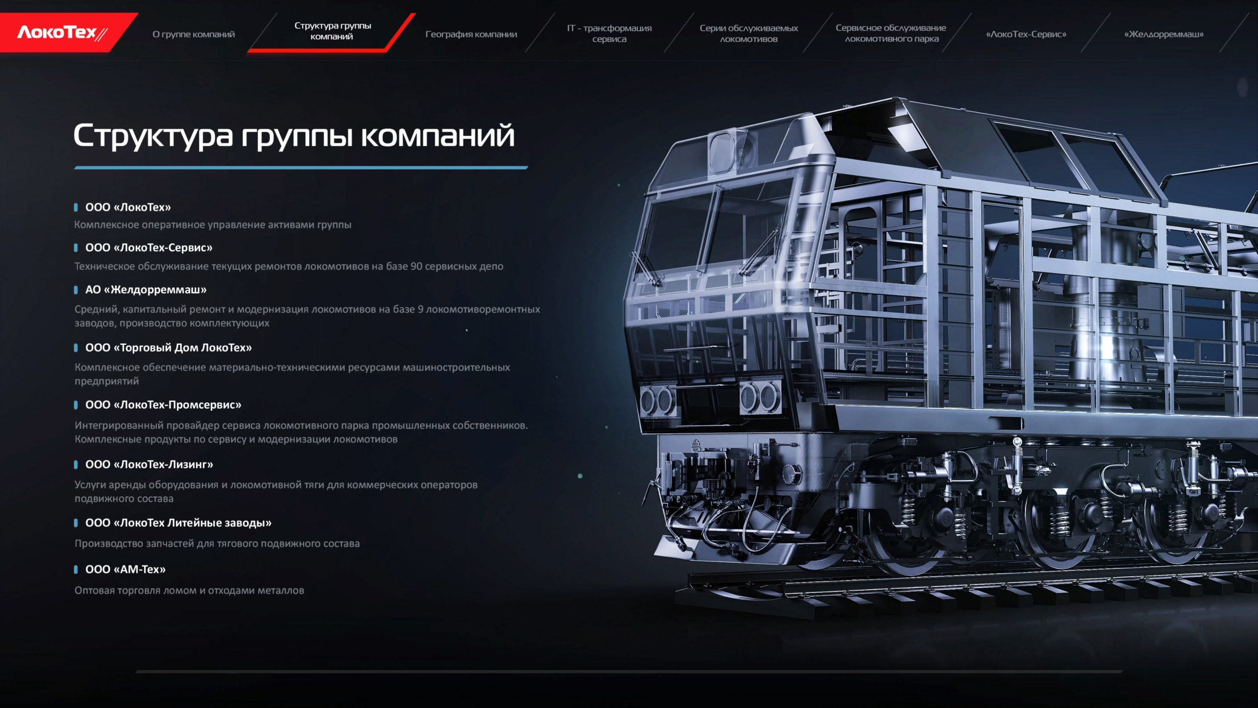 locotech title scaled Интерактивная презентация для группы компаний «Локотех»